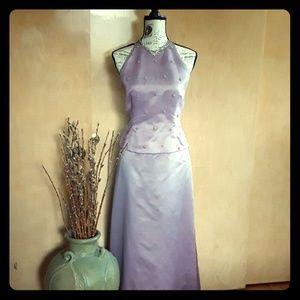 Rhapsody Lilac sz 8 long dress